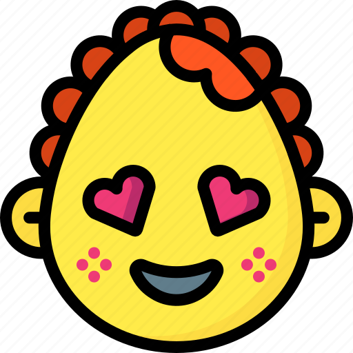 baby, emojis, emotion, face, girl, love, smiley icon