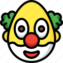 clown, emojis, emotion, face, smiley icon