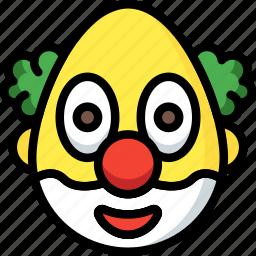 clown, emojis, emotion, face, smiley icon