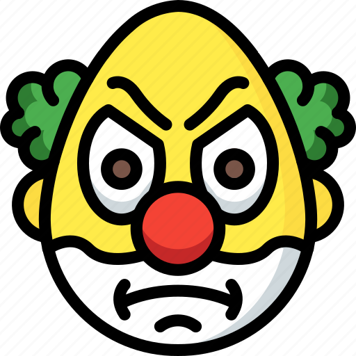 Angry, clown, emojis, emotion, face, smiley icon - Download on Iconfinder