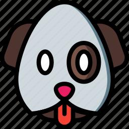 emojis, emotion, face, puppy, smiley icon