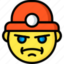 emojis, emotion, face, miner, smiley icon