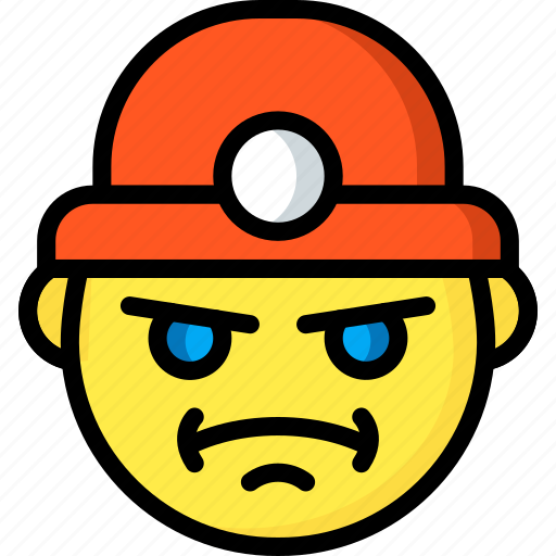 Emojis, emotion, face, miner, smiley icon - Download on Iconfinder