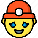 emojis, emotion, face, happy, miner, smiley icon