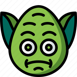 emojis, emotion, face, smiley, yoda icon