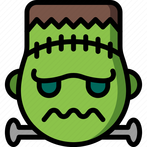 Emotion, frankenstein, emojis, smiley, face icon