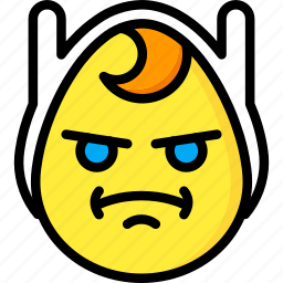 angry, emojis, emotion, face, finn, smiley icon