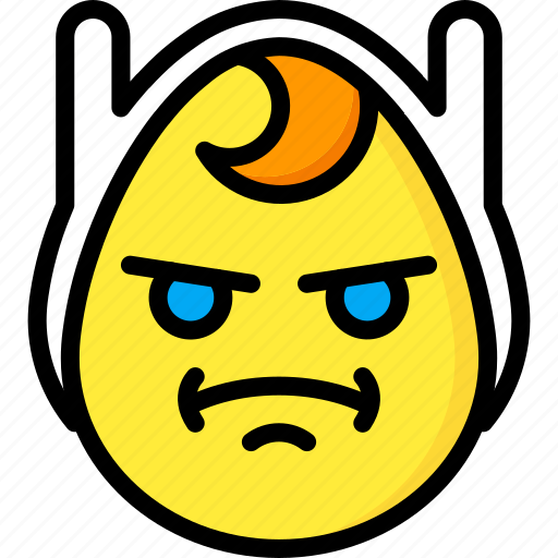 Angry, emojis, emotion, face, finn, smiley icon - Download on Iconfinder