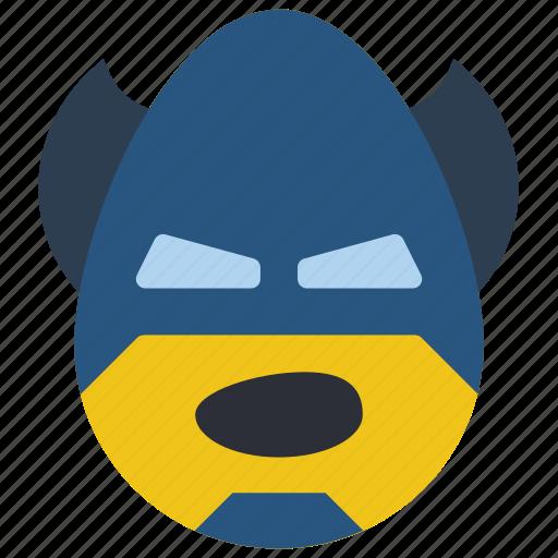 batman, emojis, emotion, hero, shout, smiley icon
