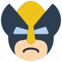 emojis, emotion, marvel, smiley, weapon x, wolverine, xmen icon