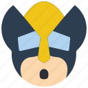 emojis, emotion, hero, marvel, oh, smiley, wolverine icon