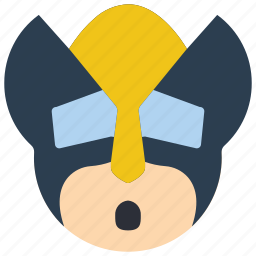 emojis, emotion, hero, marvel, oh, smiley, wolverine icon