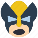 emojis, emotion, marvel, shout, smiley, wolverine, xmen icon