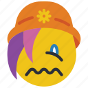 beanie, emojis, emotion, sad, sick, smiley, upset icon