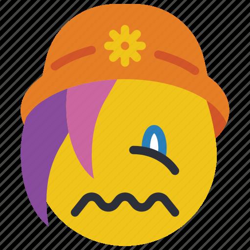 beanie, emojis, emotion, sad, sick, smiley, upset icon