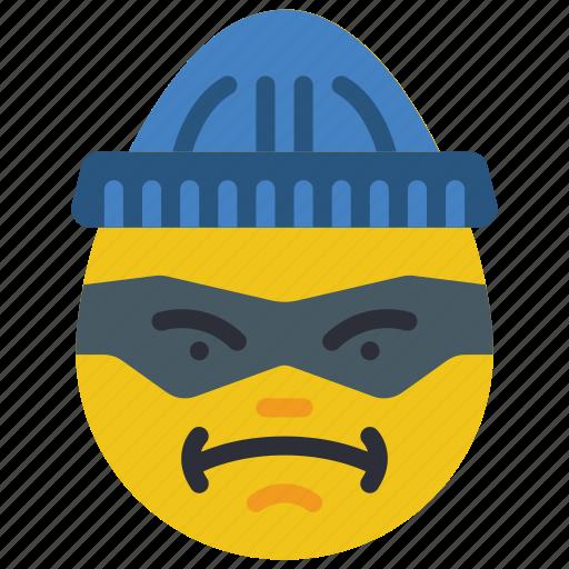 burglar, criminal, emojis, emotion, smiley, thug icon