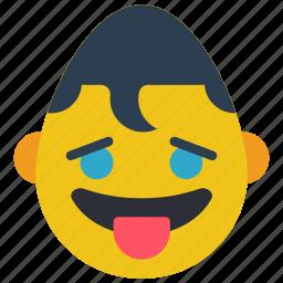 emojis, emotion, hero, smiley, superman, tongue icon