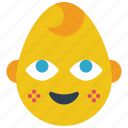 baby, boy, emojis, emotion, smiley icon