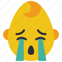 baby, boy, cry, emojis, emotion, sad, smiley icon