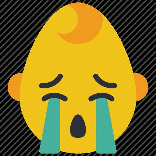 baby, boy, cry, emojis, emotion, sad, smiley icon