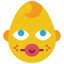 baby, boy, dummy, emojis, emotion, smiley icon