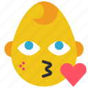 baby, boy, emojis, emotion, heart, kiss, smiley icon
