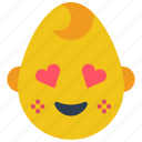 baby, boy, emojis, emotion, happy, hearts, smiley icon