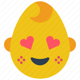 baby, boy, emojis, emotion, happy, hearts, smiley icon