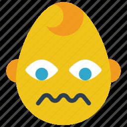 baby, boy, emojis, emotion, sad, sick, smiley icon