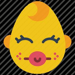 baby, boy, dummy, emojis, emotion, smiley icon