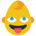 baby, boy, emojis, emotion, smiley, tongue icon