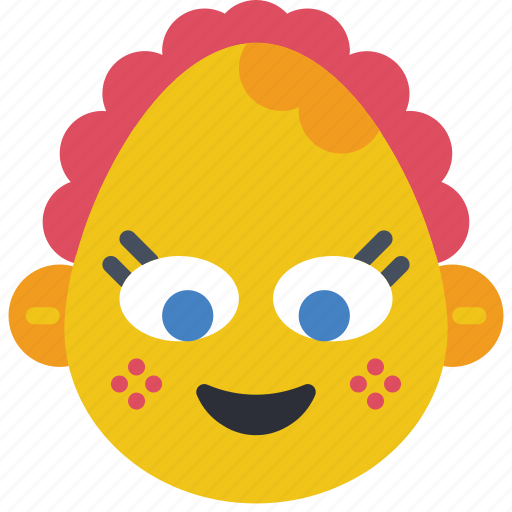 baby, emojis, emotion, girl, smiley icon
