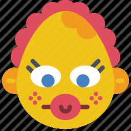 baby, dummy, emojis, emotion, girl, smiley icon