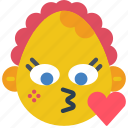 baby, emojis, emotion, girl, kiss, love, smiley icon