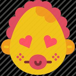 baby, emojis, emotion, girl, hearts, love, smiley icon