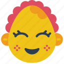 baby, emojis, emotion, girl, happy, smiley icon