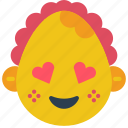 baby, emojis, emotion, girl, hearts, love, smiley icon