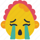 baby, cry, emojis, emotion, girl, smiley, upset icon