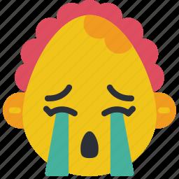baby, cry, emojis, emotion, girl, smiley, upset icon
