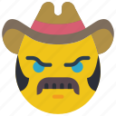 brokeback, cowboy, emojis, emotion, mustache, smiley, tash icon