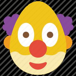 clown, emojis, emotion, scary, smiley icon