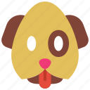 dog, emojis, emotion, pet, puppy, smiley icon