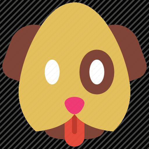 dog, emojis, emotion, pet, puppy, smiley icon