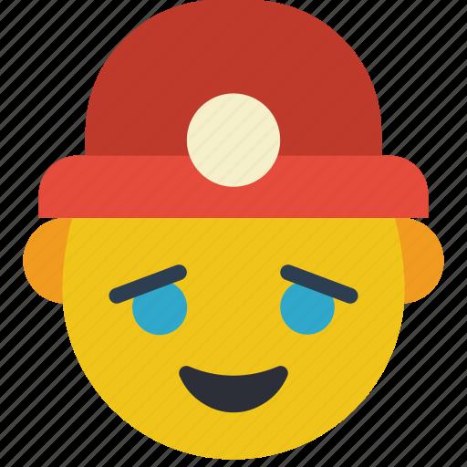 builder, emojis, happy, miner, worker icon