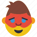emojis, emotion, happy, hero, man, masked, robin icon