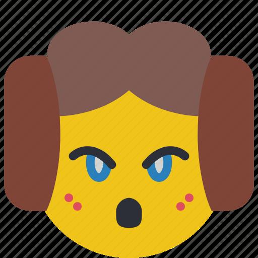 emojis, emotion, lea, leah, oh, princess, smiley icon
