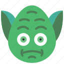 emojis, emotion, jedi, smiley, star wars, wars, yoda icon