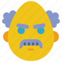 angry, emojis, mad, prof, professor, scientist icon