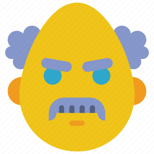 angry, emojis, mad, prof, professor, scientist icon