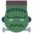 emojis, emotion, frankenstein, haloween, monster, scary icon